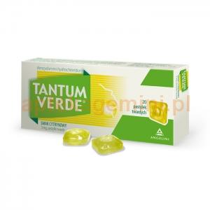 ANGELINI Tantum Verde, smak cytrynowy, 20 pastylek