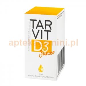 POLFA TARACHOMIN Tarvit D3 Junior, krople dla dzieci od 2 tygodnia życia, 12ml