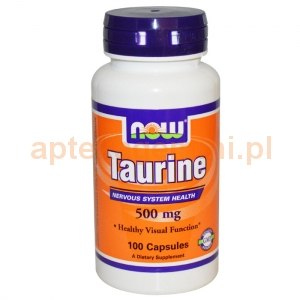 NOW FOODS Taurine, 500mg, 100 kapsułek