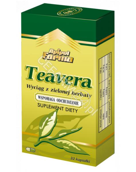 APIPOL-FARMA Teavera wyciąg z zielonej herbaty x 32 kaps