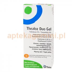 THEA Thealoz Duo Gel, żel płynny do oczu, 30 pojemników po 0,4g