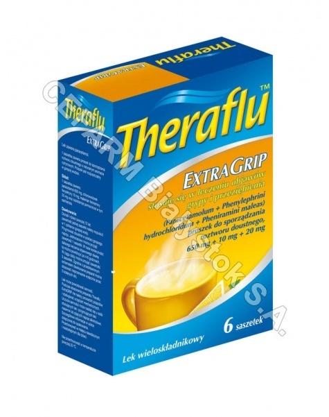 NOVARTIS Theraflu extra grip x 10 sasz (data ważności 31.05.2016)