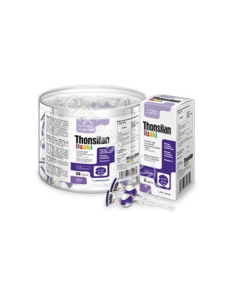 NOVASCON Thonsilan lizaki o smaku truskawkowym x 8 szt
