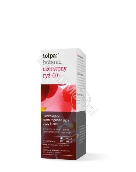 TORF CORPORA Tołpa Botanic Czerwony Ryż 40+ ujędrniający krem regenerujący oczy i usta 10 ml