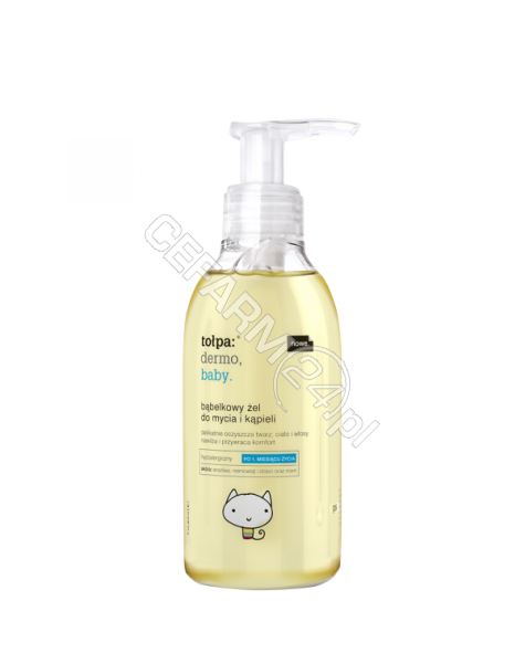 TORF CORPORA Tołpa dermo baby bąbelkowy żel do mycia i kąpieli 195 ml
