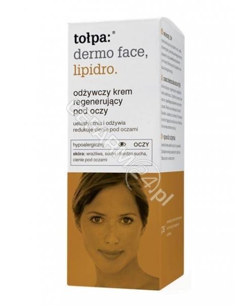 TORF CORPORA Tołpa dermo face lipidro odżywczy krem regenerujący pod oczy 10 ml
