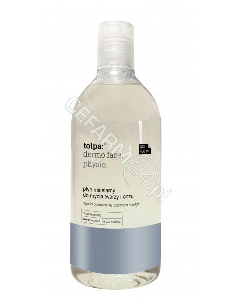 TORF CORPORA Tołpa dermo face physio płyn micelarny do mycia twarzy i oczu łagodzi podrażnienia, przywraca komfort 400 ml