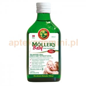 ORKLA HEALTH AS Tran Mollers Baby, naturalny, powyżej 6 miesiąca, 250ml