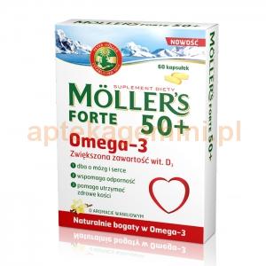 ORKLA HEALTH AS Tran Mollers Forte 50+, 60 kapsułek