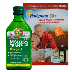 ORKLA HEALTH AS Tran Mollers, naturalny, 250ml + KRZYŻÓWKI GRATIS OKAZJA