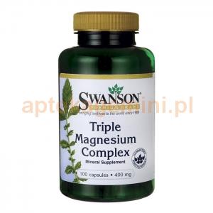 SWANSON Triple Magnesium complex 400mg, SWANSON, 100 kapsułek