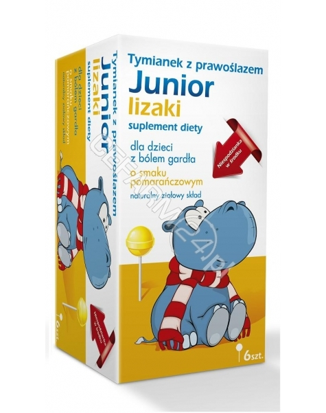 MSFARMA Tymianek z prawoślazem junior lizaki x 6 szt