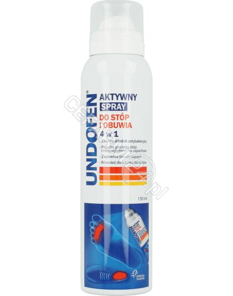 OMEGA PHARMA Undofen aktywny spray do stóp i obuwia 4w1 150 ml