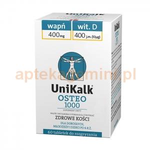 ORKLA HEALTH AS Unikalk Osteo 1000, 60 tabletek OKAZJA