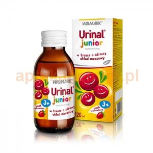 Walmark Urinal Junior, płyn doustny, smak truskawkowy, 120ml