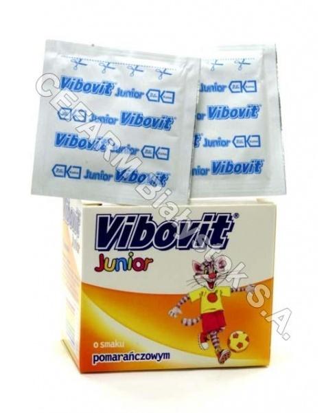 TEVA KUTNO Vibovit junior 2 g x 15 sasz o smaku pomarańczowym