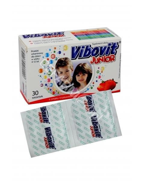 TEVA KUTNO Vibovit junior 2 g x 30 sasz o smaku truskawkowym