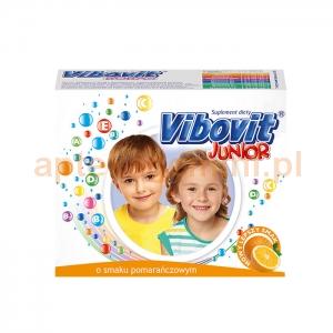 TEVA Vibovit Junior, dla dzieci w wieku od 4 do 12 lat, smak pomarańczowy, 15 saszetek