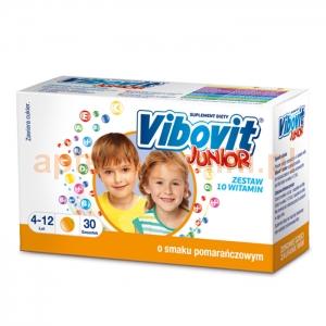 TEVA Vibovit Junior, dla dzieci w wieku od 4 do 12 lat, smak pomarańczowy, 30 saszetek