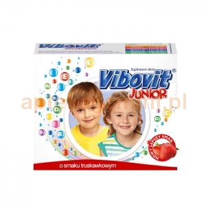 TEVA Vibovit Junior, dla dzieci w wieku od 4 do 12 lat, smak truskawkowy, 15 saszetek
