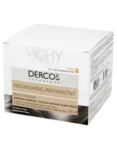VICHY Vichy dercos technique - odżywczo - regenerująca bogata maska do włosów suchych i zniszczonych 200 ml