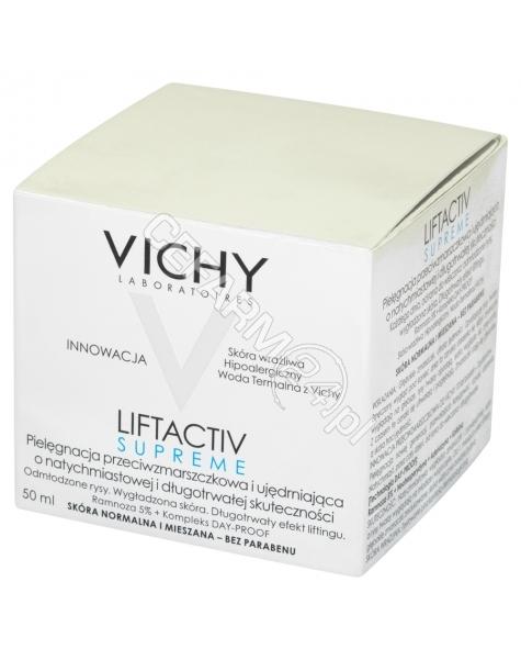 VICHY Vichy liftactiv supreme - krem przeciwzmarszczkowy do cery normalnej i mieszanej 50 ml