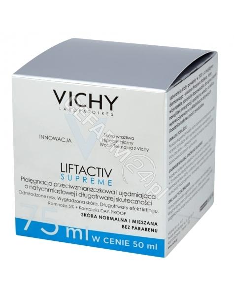 VICHY Vichy liftactiv supreme - krem przeciwzmarszczkowy do cery normalnej i mieszanej 75 ml