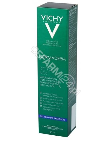 VICHY Vichy normaderm detox krem detoksykujący na noc przeciw niedoskonałościom 40 ml + żel oczyszczający 100 ml GRATIS!!!