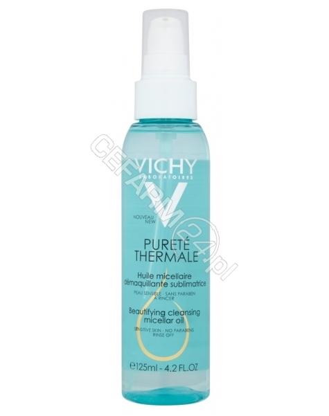 VICHY Vichy Purete Thermale upiększający olejek micelarny do demakijażu do skóry wrażliwej 125 ml