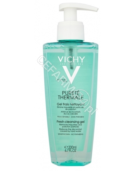 VICHY Vichy purete thermale żel odświeżający do twarzy do skóry wrażliwej 200 ml