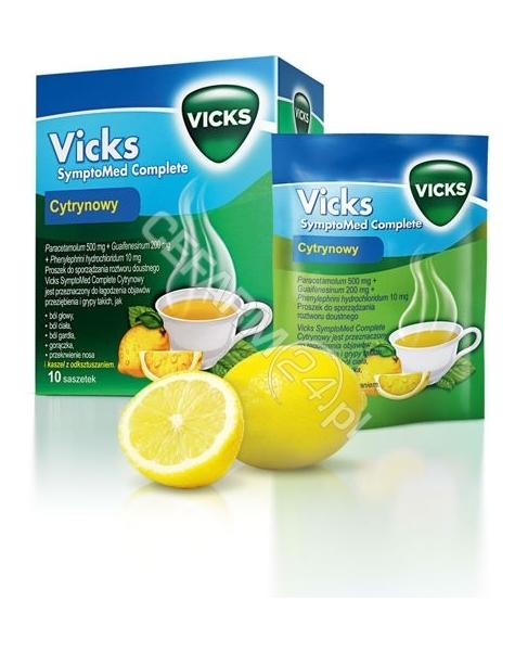 PROCTER & GA Vicks Symptomed Complete x 5 sasz o smaku cytrynowym