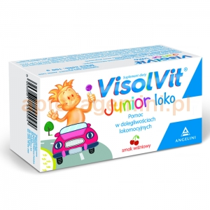 ANGELINI Visolvit Junior loko, lizaki bezcukrowe, smak wiśniowy, 3 sztuki