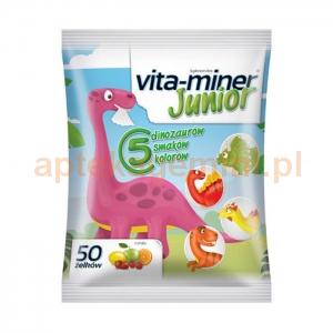 Aflofarm Vita-miner Junior, żelki dla dzieci powyżej 3 roku życia, 50 sztuk