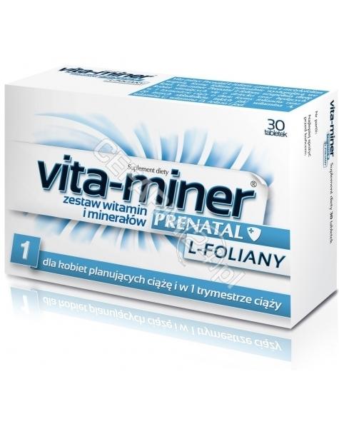 AFLOFARM Vita-miner prenatal l-foliany x 30 tabl (data ważności 30.04.2016)