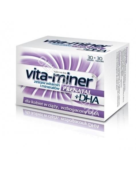 AFLOFARM Vita-miner prenatal+dha x 30 tabl+30 kaps