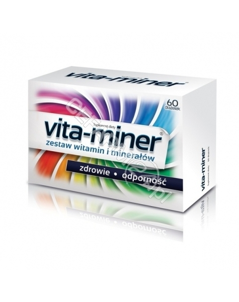 AFLOFARM Vita-miner x 60 +15 drażetek