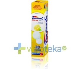ZAKŁADY FARMACEUTYCZNE POLFA-ŁÓDŹ S.A. Vitamina C 1000 mg 20 tabletek musujących POLFA Łódź