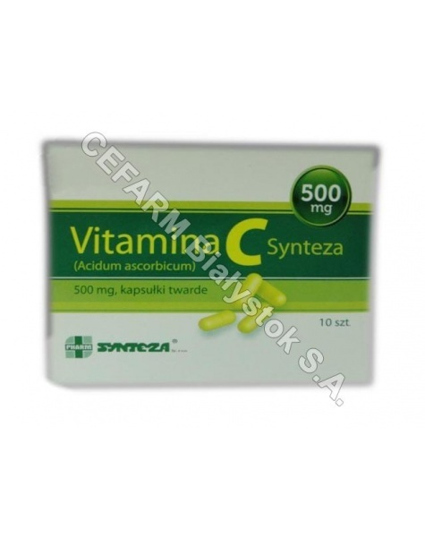 SYNTEZA Vitamina c 500 mg x 10 kaps (synteza)