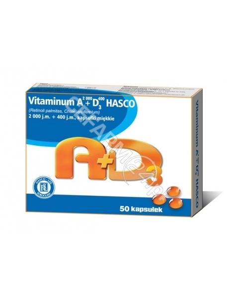 HASCO-LEK Vitaminum A 2 000 + D3 400 x 50 kaps (Hasco-Lek)