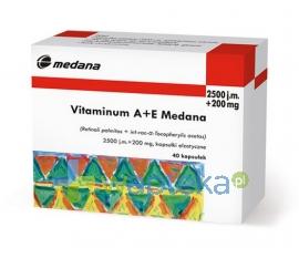 MEDANA PHARMA SPÓŁKA AKCYJNA Vitaminum A+E 40 kapsułek MEDANA