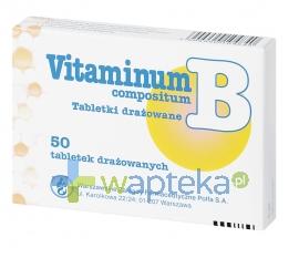 POLFA ŁÓDŹ S.A. Vitaminum B compositum 50 drażetek POLFA