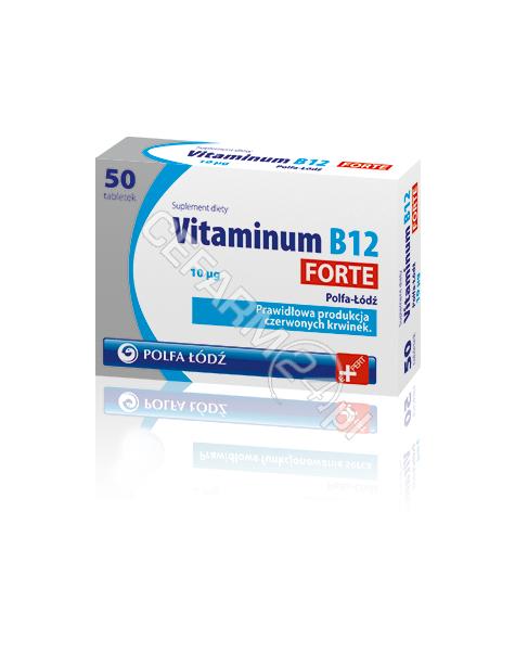 POLFA ŁÓDŹ Vitaminum B12 Forte 10 mcg x 50 tabl (Polfa-Łódź)