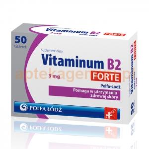 POLFA ŁÓDŹ Vitaminum B2 Forte 3mg, 50 tabletek