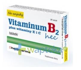 HECPHARMA Vitaminum B2 Hec na zajady 30 tabletek