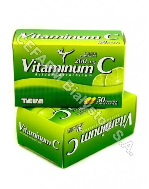 TEVA KUTNO Vitaminum c 200 mg x 50 tabl powlekanych (teva)