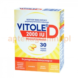 MEDANA Vitole D, 2000 IU, 30 kapsułek