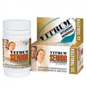 UNIPHARM Vitrum Senior z likopenem, 30 tabletek