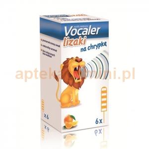 Aflofarm Vocaler, lizaki, dla dzieci powyżej 3 lat, 6 lizaków