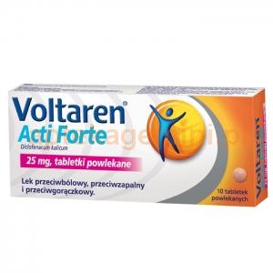 NOVARTIS Voltaren Acti Forte 25mg, 10 tabletek powlekanych
