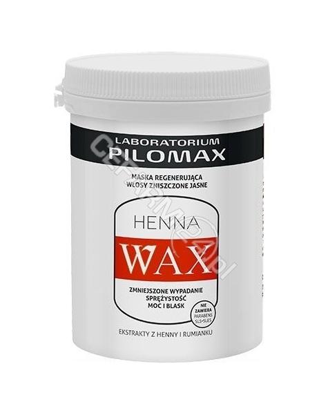 PILOMAX JOLANTA BORTKIEWICZ Wax henna maska regenerująca włosy zniszczone jasne 480 ml